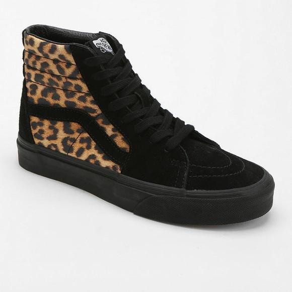 Vans Shoes | Leopard Print And Black